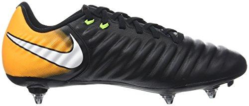 Nike Men Tiempo Ligera Iv Sg Scarpe Da Calcio Nere (nero / Bianco-laser Arancione-volt)