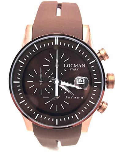 LOCMAN Island ref620 crono Steel pvd Brown 40mm