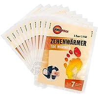Warmpack Zehenwärmer | Schuh Wärmepads für kalte Temperaturen | Toe warmer | Angenehm weiche Fußwärmer | 7 Stunden lang 38°C | 10er Pack