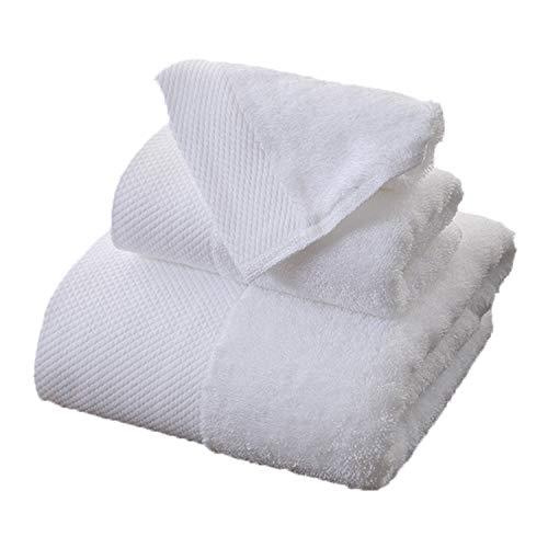 Amone asciugamano da bagno bianco asciugamano tre pezzi set di puro cotone di alta qualità
