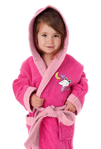 Secaneta Albornoz Infantil Talla 6/8 Rosa Ratita, 43624