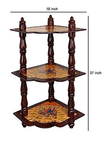 Salon étagère d'angle Cabinet bois 3 Tier Table