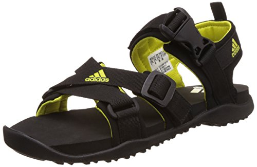 adidas Women's Gladi W Black and Shosli Leather Athletic and Outdoor Sandals - 7 UK/India (40.7 EU)  available at amazon for Rs.2049