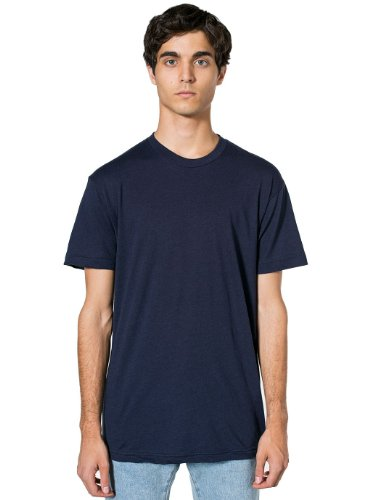 American Apparel - Poly-Cotton Short Sleeve Crew Neck T-Shirt (BB401) Navy