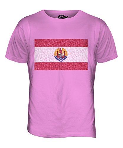 CandyMix Französisch-Polynesien Kritzelte Flagge Herren T Shirt Rosa