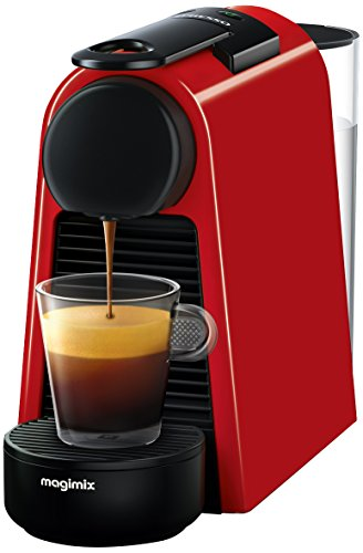 Nespresso Essenza Mini Coffee Machine with Aeroccino, Ruby Red by Magimix Best Price and Cheapest