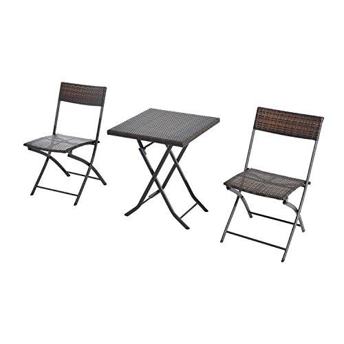 Tavolo Con Sedie Rattan.Outsunny Set Tavolino Da Giardino 3pz Tavolino Con 2 Sedie