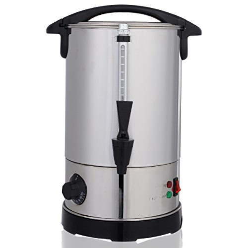 COSTWAY 6L Glühweinkessel Glühweinkocher Glühweinautomat Heißgetränkeautomat Heißwasserkessel Wasserkocher Teekocher Edelstahl 950 Watt Thermostat