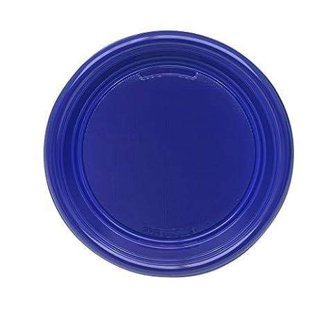 Aristea - assiettes en plastique jetables de 30 pièces, bleu foncé