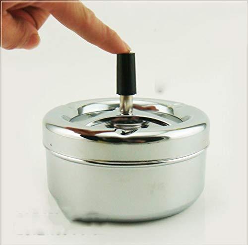 Preisvergleich Produktbild DX Europäischen Stil mit Deckel Zigarette aschenbecher,  drücken rotierenden siegel aschenbecher-A