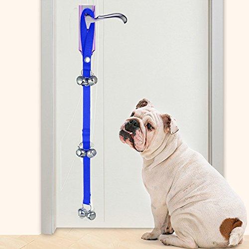 Zubita Hunde Türglocke, Türklingel Hund Ausbildung Dog Hund Töpfchen Housetraining Doorbell Einbruch Adjustable für Haus Ausbildung 90 cm für Welpen-Unterrichtsanleitung (Blue)