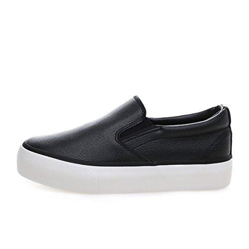Scarpe da tennis superiori basse/Studentesse Scarpe/La versione coreana di scarpe di tela/Scarpe da donna/Spessa piattaforma con appartamenti superficiale/mocassini B