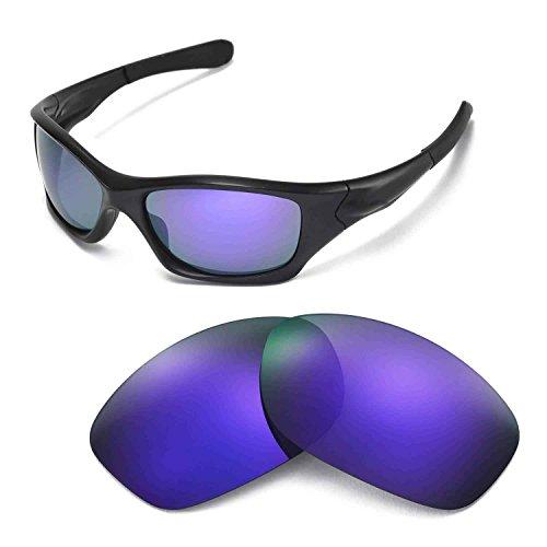 Walleva Ersatzgläser für Oakley Pit Bull Sonnenbrille - Mehrfache Optionen (Lila beschichtet - polarisiert)