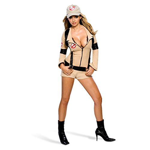 Ghostbusters Damenkostüm - mit Hotpant Overall, Basecap, günstiges Komplettkostüm - (Shirt Ghostbusters Kostüm)