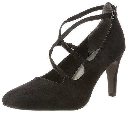 Tamaris Damen 24407 Geschlossene Sandalen, Schwarz (Black), 39 EU (Schuhe Sling Schwarz)