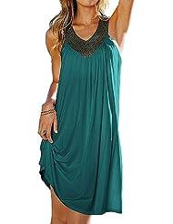 Europäische und amerikanische Mode heißen Bohren Strandkleid,Kleid Urlaub,Beachwear+Geschenk: Herz-Armband