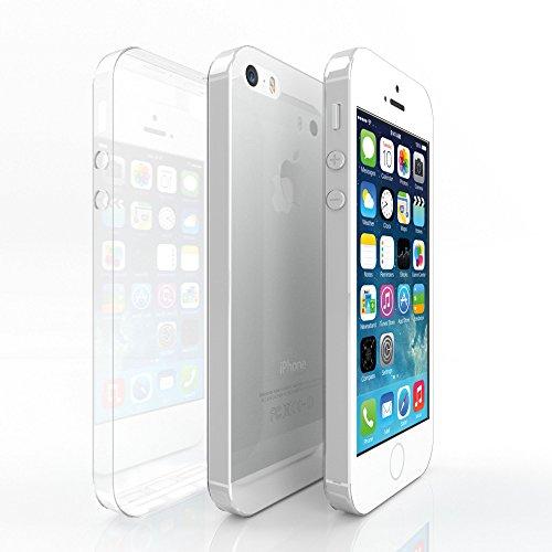 GIESINGER BERLIN iPhone 5/5S/SE Hülle, Transparent, Weich aus Soft Silikon, Ultra Dünn (0,5 mm), Durchsichtige Qualitäts Schutzhülle/Handyhülle/Cover/Case für Apple iPhones