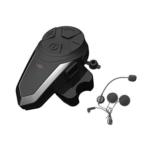 1x Auriculares Bluetooth para Moto, ENCHICAS BT-S3 Manos Libres Intercom Comunicadores Intercomunicador...
