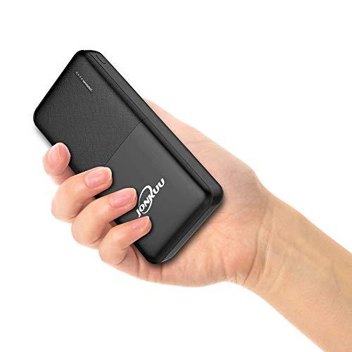Handy Powerbank 20000mAh Mini Externer Akku Portable Phone Charger Tragbares Ladegerät Dual USB 2.4A Ports und Type c Eingang Technologie für iPhone iPad pro Samsung Galaxy Nintendo Switch Weitere (Iphone Portable 20000mah Charger)