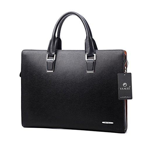 YAAGLE Herren Business Taschen Freizeit Handtasche Querschnitt Aktentasche Schultertasche Kuriertasche Henkeltasche-schwarz schwarz
