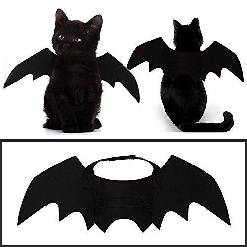 Aolvo Fledermausflügel Katzen-Kostüm, Fledermausflügel, schwarz, Filzstoff, weich, verstellbar, für - Batman Kostüm Für Katzen