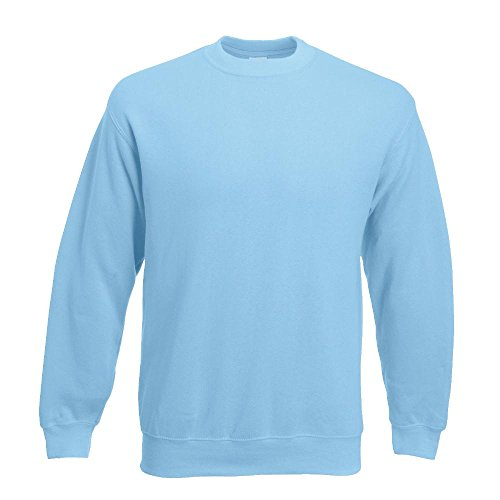 Fruit of the Loom - Sweatshirt 'Set-In' XL,sky blue XL,Sky Blue