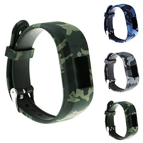 mouflage Farbe Wrist Strap Uhrenarmband kompatibel für Garmin Vivofit JR2 Tarnungs-Blau ()