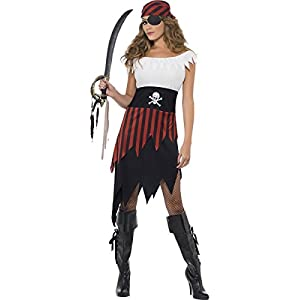 Smiffys Costume da donna pirata, con abito e copricapo, Modelli/Colori Assortiti, 1 Pezzo 6 spesavip