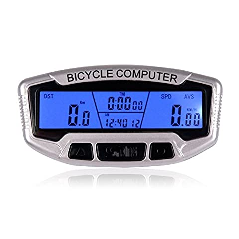 LCD Vélo Compteur de vitesse ordinateur étanche Digital Vélo Odomètre Velometer Compteur de bicyclette avec rétro-éclairage pour sports de plein air d'équitation de cyclisme de montagne Vélo pliant Vélo Véhicules de route VTT