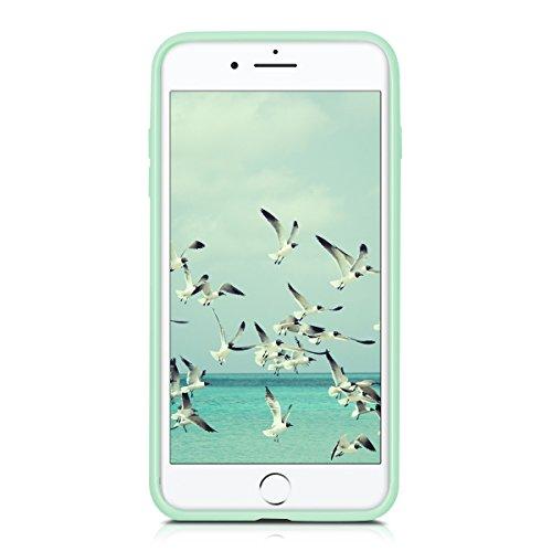 kwmobile Étui en TPU silicone élégant pour Apple iPhone 7 Plus / 8 Plus en or rose métallique .menthe mat