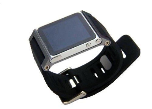 Fiona Neu Multi-Touch Aluminium-Armband Tasche für Apple iPod nano 6. Generation 8GB 16GB (OEM) (Grau) (Nano Ipod-uhr-band)