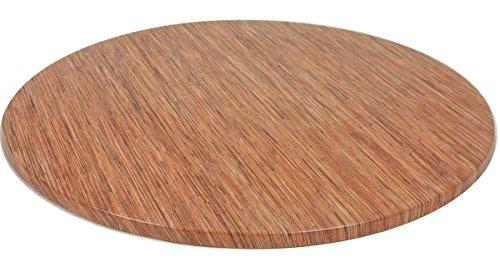 VARILANDO runde Tischplatte aus Werzalit, verschiedene Ausführungen Ø 100 cm (Seegras)