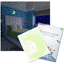Meloive Pegatinas de Estrellas, 533pcs Decoración Fluorescente Adhesivos Perfecto para Niños Cama Habitacióno Regalo de Cumpleaños.Brillan en la Oscuridad