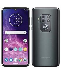 "motorola one zoom mit Alexa Hands-Free (6,4""-FHD+Display, Vierfach-Kamerasystem; 128 GB/4 GB, AndroidTM 9 Pie, Dual-SIM-Smartphone) Grau-Metallic + Headset + Schutzcover"