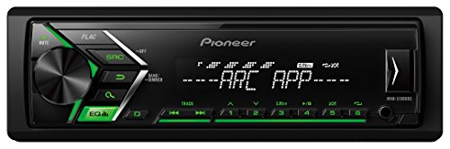 Pioneer MVH-S100UBG 1/2 DIN Autoradio mit AUX-In und USB, RDS Tuner, Auto MP3 Tuner, Wiedergabe von MP3 WMA WAV FLAC über MOS-FET 4x 50W grün