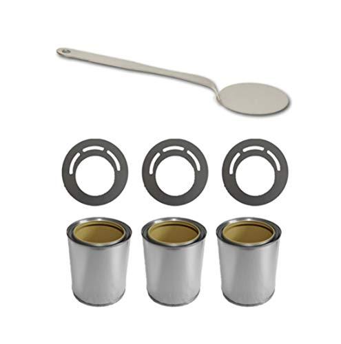 ethanolbrenner Zubehör-Set für Bio Ethanol/Gel Brennstoffdosen 0,5L + Deckel + Sparplatten + Flammenlöscher
