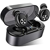 Wireless Earbuds, AairHut A2 True Wireless Bluetooth Earbuds 15-Hr Playtime 3D Stereo Sound In-Ear Headphones With Easy Pair Tech And 28-Hr Playtime For Mono Mode