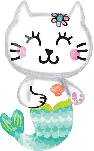 Amscan 3780301–Globo sirena de gato