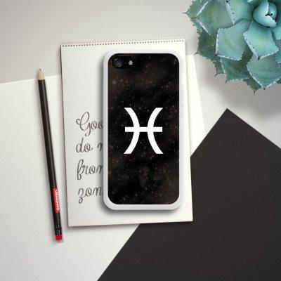Apple iPhone 5s Housse Étui Protection Coque Poissons Signes du zodiaque Astrologie Housse en silicone blanc