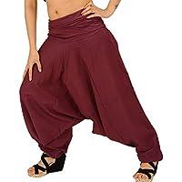 SNS Pure algodón Harem Pantalón de India pantalones de yoga pant