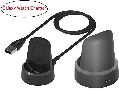 Ruentech Charger Dock kompatibel mit Samsung Galaxy Watch 42mm / 46mm Ladegerät, Ersatz-USB-Ladekabel für Galaxy Watch SM-R800 / SM-R805 / SM-R810 / SM-R815 42mm / 46mm Smartwatch (1 pcs)