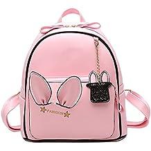 Majome Las mujeres mocasines lindos mochila de cuero de la PU de adolescentes mochilas escolares viajan