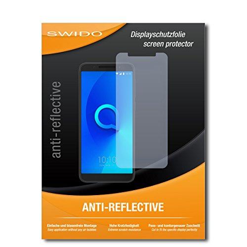 SWIDO Schutzfolie für Alcatel 3 [2 Stück] Anti-Reflex MATT Entspiegelnd, Hoher Härtegrad, Schutz vor Kratzer/Bildschirmschutz, Bildschirmschutzfolie, Panzerglas-Folie