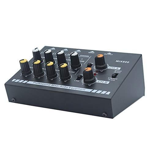 WEINANA N-Audio Professioneller Mini-Karaoke-Audiomischer Ultrakompakter Line-Monomikrofon-Mischverstärker für die Familie KTV - Familie Karaoke