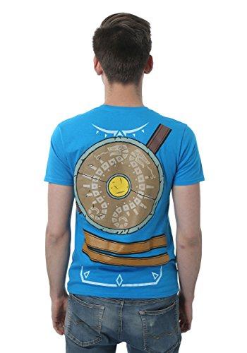 (Men's Legend of Zelda Breath of the Wild Fancy dress costume T-Shirt Large)
