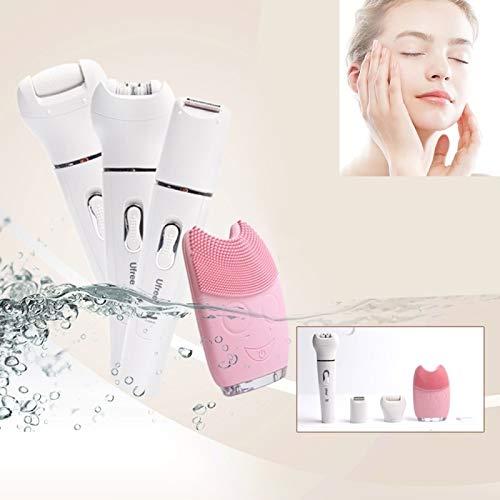 CattleBie 5 in 1 Beauty Tool Kit Reinigungsinstrument Elektrische Rupfvorrichtung Rasiermesser Scrub Dead Skin-Maschine, (Color : Multi-Colored)