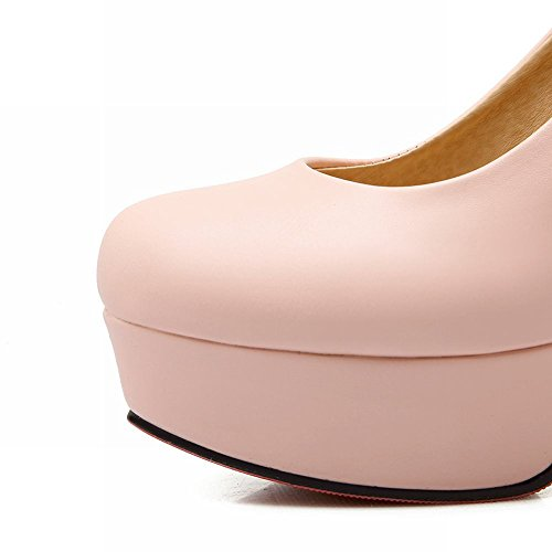 Mee Damen Heels Shoes Pumps High Geschlossen Pink Plateau SnFn5rxw