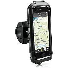 Arendo - iPhone 6 Soporte impermeable para bicicleta | bolsa/funda para bicicleta | soporte para móvil/teléfono inteligente | fácil de usar | fijación