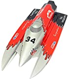 Flying Gadgets F1 Remote Control Gas Powered Power Boat (Silver/ Red/ Black)