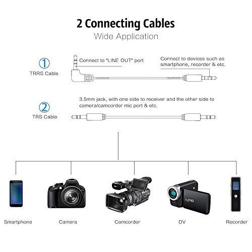 Boya BY-WM4 Microphone sans fil Lavalier avec écran en temps réel avec étui rigide pour appareil photo reflex numérique Canon Nikon Sony Cam... 10